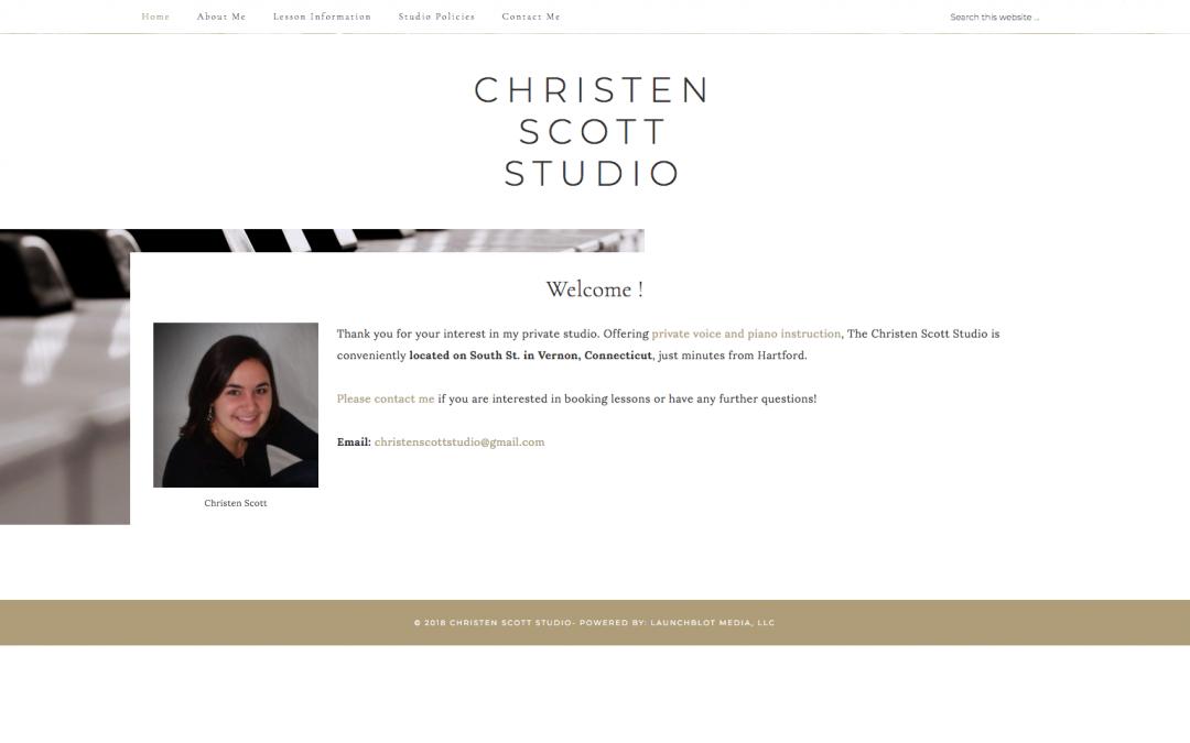 Christen Scott Studio Singing a New Tune